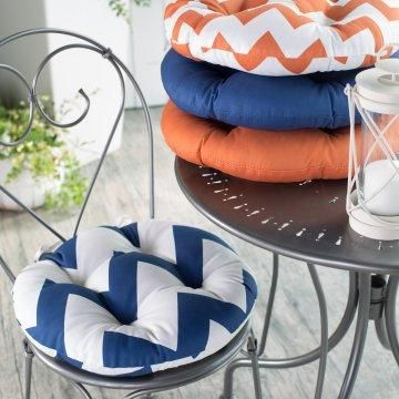 Valencia Bistro Outdoor Round Seat Cushion Round Seat Cushions Round Outdoor Cushions Outdoor Chair Cushions