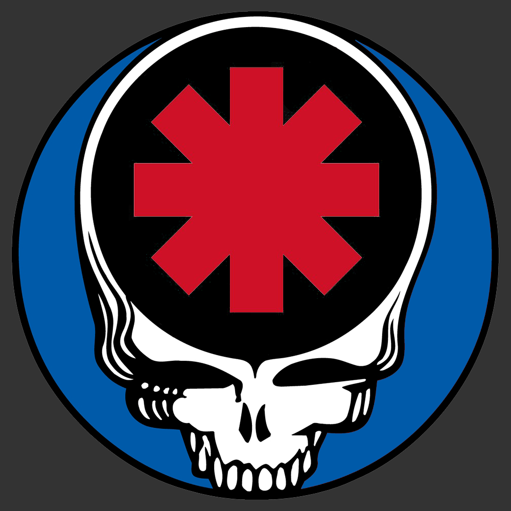 Steal Your Face Red Hot Chili Peppers Png 1000 1000 Cool Bands Face Grateful Dead