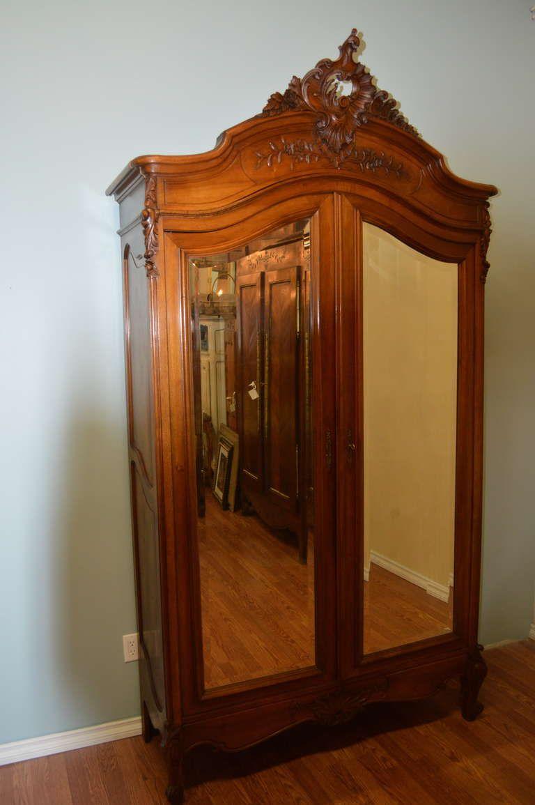 armoire glace louis xv style rocaille antigo colorido. Black Bedroom Furniture Sets. Home Design Ideas