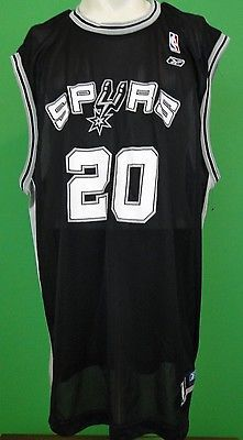 Manu-Ginobili-San-Antonio-Spurs-Jersey-Reebok-XL-NBA-Authentic -Mens-Womens-Black dabd73977