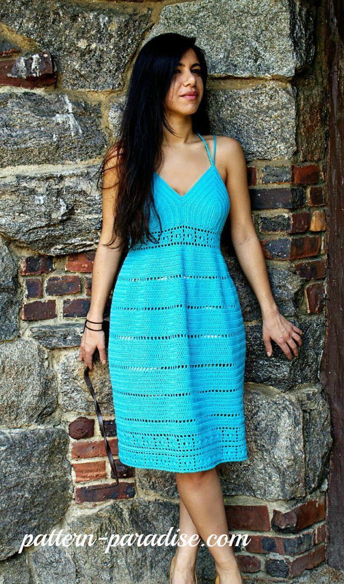 b6faf10c1ef4d Calypso Kiss Sundress Crochet Pattern by Pattern-Paradise.com Crochet  Designs
