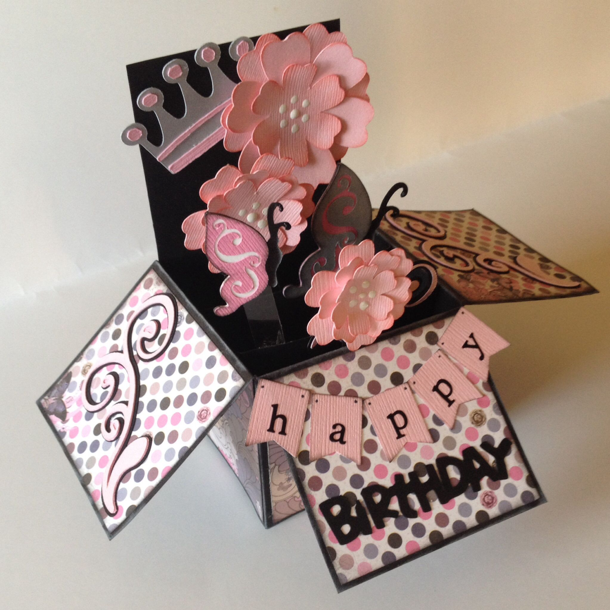 Happy birthday pop up box card  Card in a Box  Pinterest  Happy