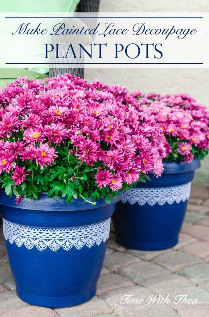 Timewiththea Com Is Expired Painted Flower Pots Plastic Plant Pots Flower Pots
