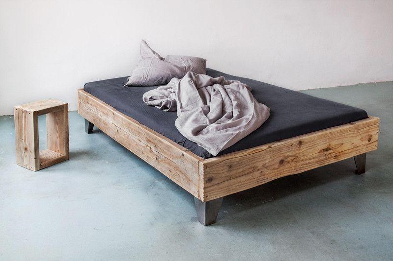 upcycle.berlin bett aus bauholz! 140 x 200 | bauholz, wohn design, Hause deko