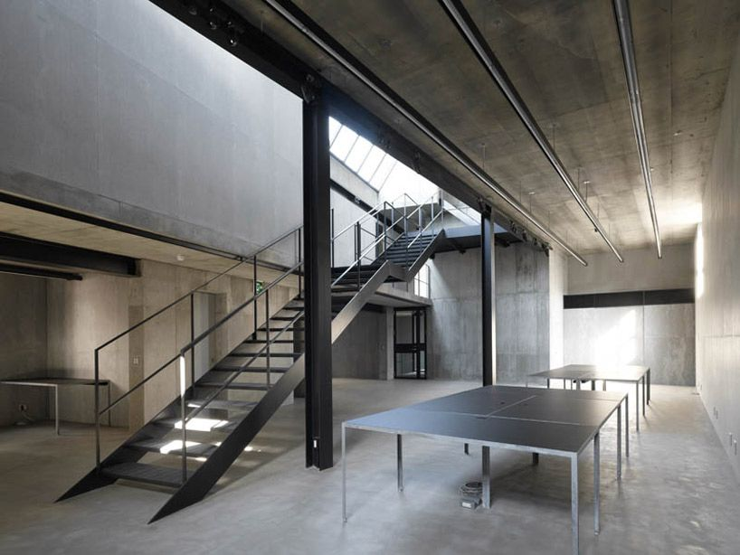 Loving the cool grey aesthetics of this office interior for Cool office interiors