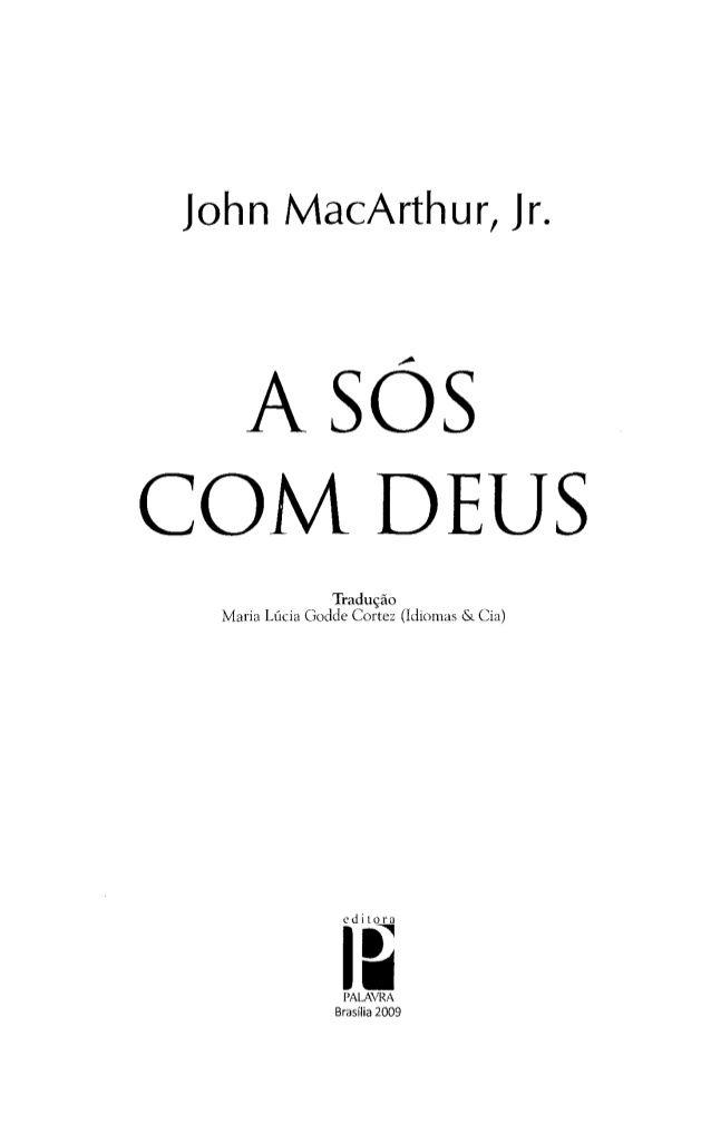 A Sos Com Deus John Mac Arthur Jr Livros Evangelicos Pdf