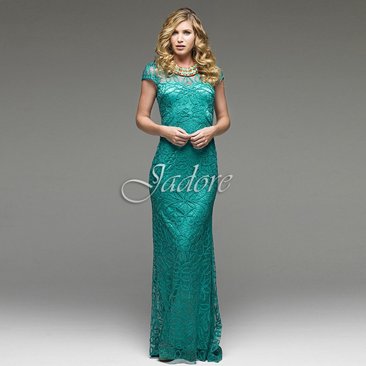 Fashionably Yours - Lilian Lace Bridemaid Dresses In Jade, $499.00 ...