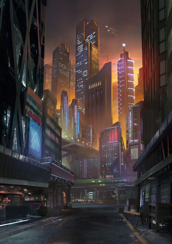 Artstation Neon City Outlaws Cover Art Jordan Grimmer