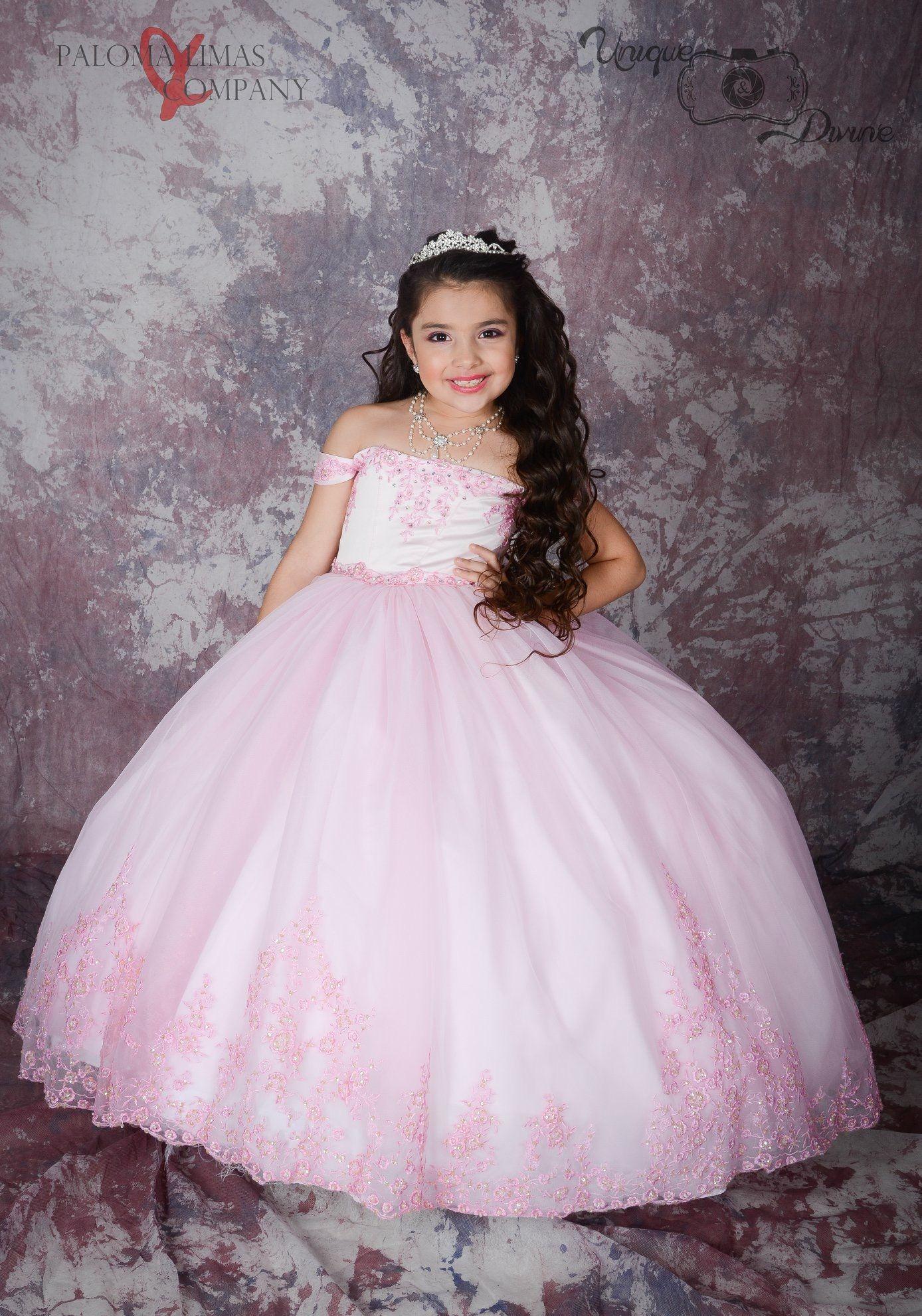 Pink Cincoañera Dress Queen dress, Dresses, Little girl