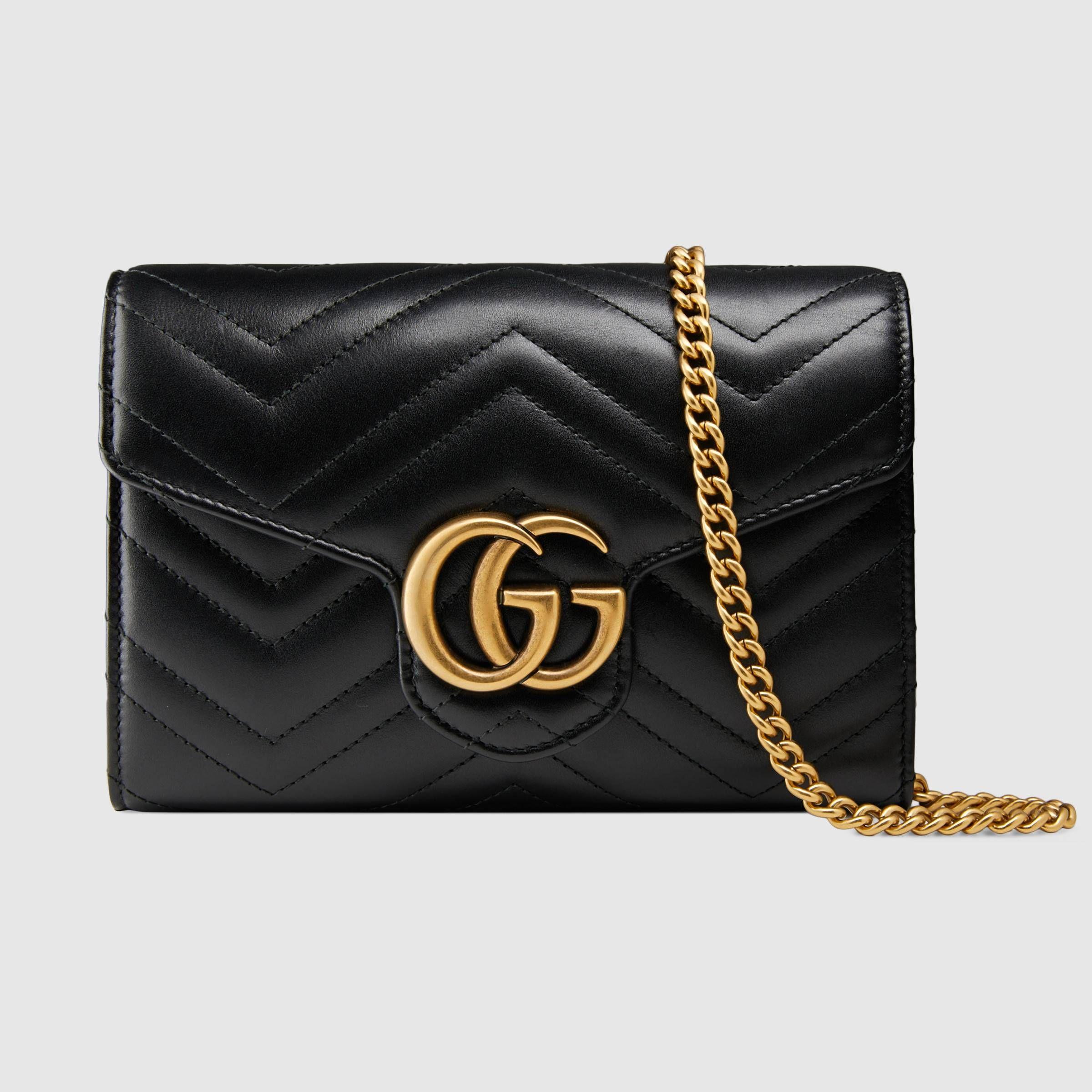 2cb5c606369cfc GG Marmont matelassé mini bag - Gucci Women's Wallets & Small Accessories  474575DRW1T1000