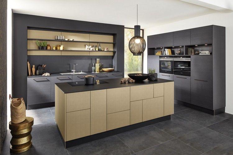 Bien connu couleur cuisine tendance 2017 : meubles en bois et gris anthracite  RV64