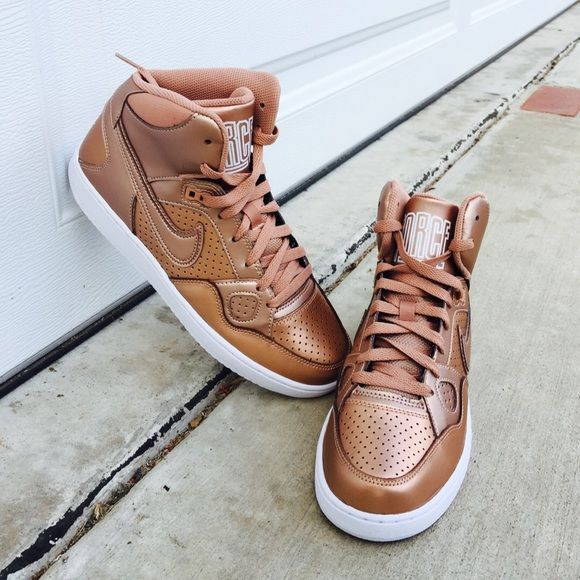 online store 8c4aa 63cf8 ✨✨ Nike  Bronze Son of Force Mid These are women s 8.5. Brand new, never  been worn. I ll pack them in a designer box to keep them safe.