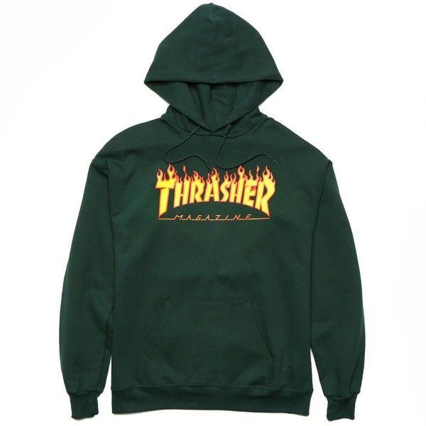 889066480 Thrasher Flame Logo Hooded Sweatshirt ($60) ❤ liked on Polyvore ...