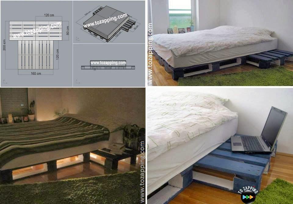 C mo hacer camas con palets paso a paso - Somier japones ...