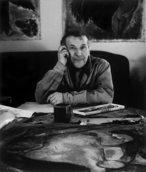 Marc Chagall in his Studio Atelier Yvelines Orgeval