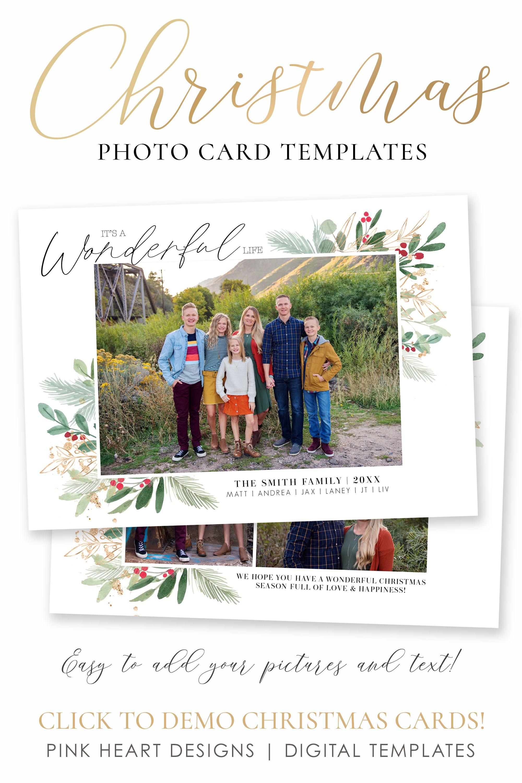 Christmas Card Template Christmas Cards Template 5x7 Photo Etsy Holiday Card Template Christmas Card Template Christmas Cards