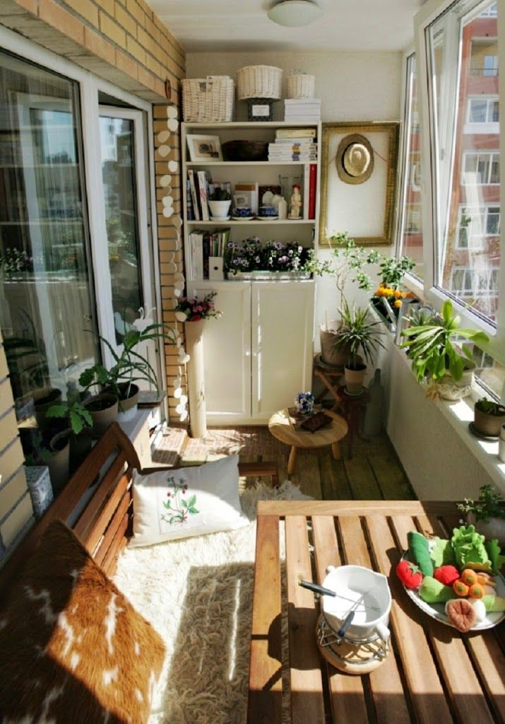 Balc n decorado un lindo balc n con mesa para hacer de tus - Mesa para balcon ...