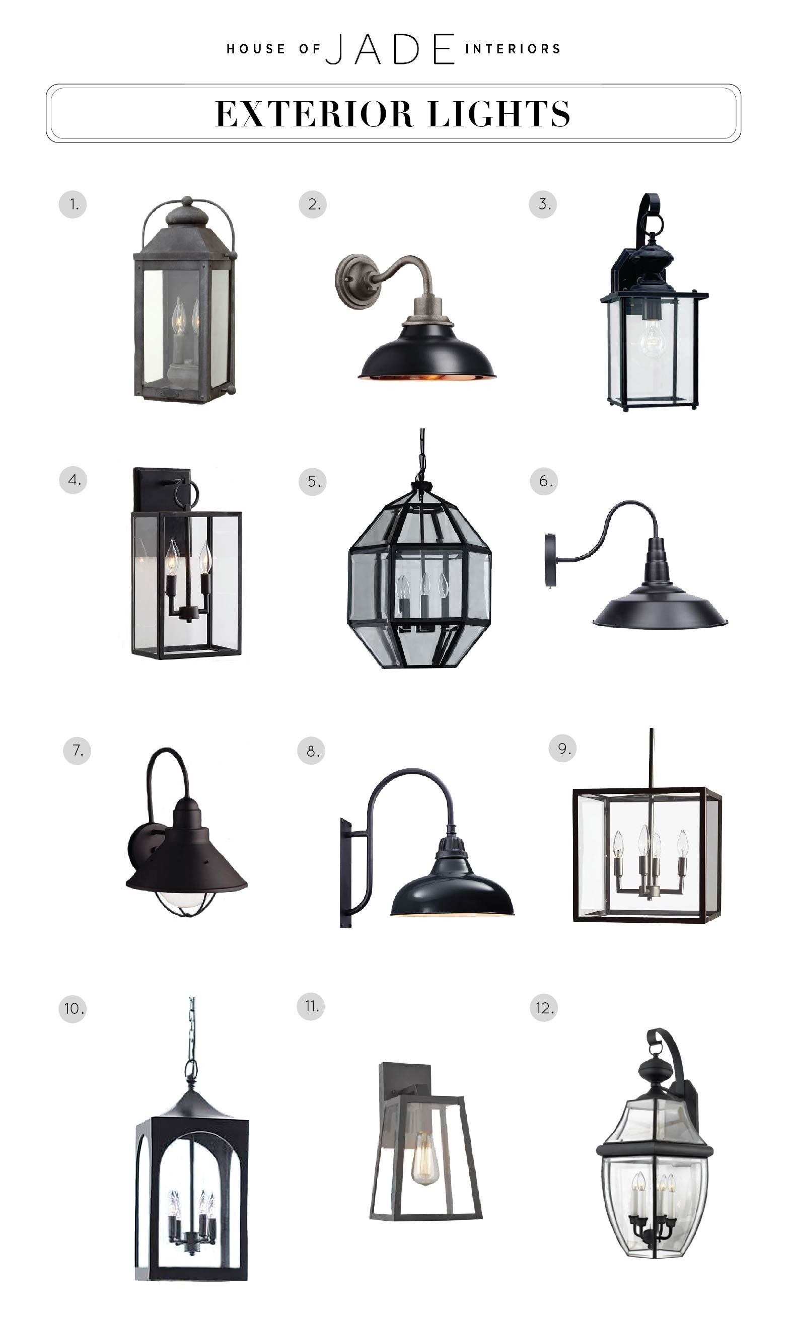 Design Tip Exterior Lights House Of Jade Interiors Exterior Light Fixtures Exterior Lighting Farmhouse Renovation