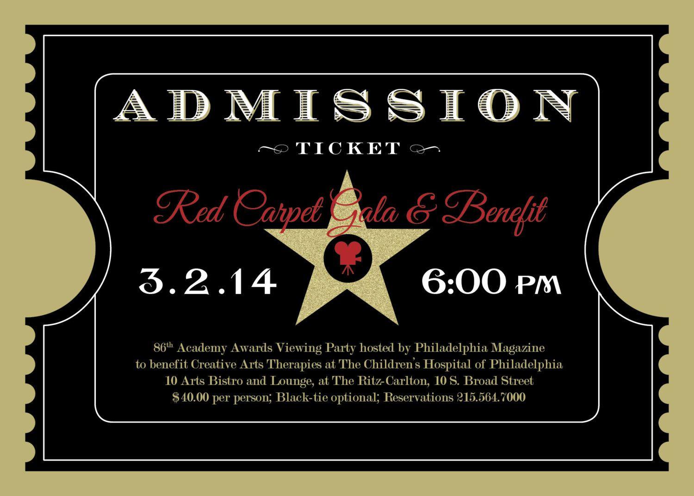 Printable Red Carpet Gala Hollywood OscarsAcademy Awards