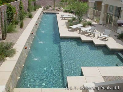 Diy above ground lap pool concrete swimming pools by act for How to build a lap pool