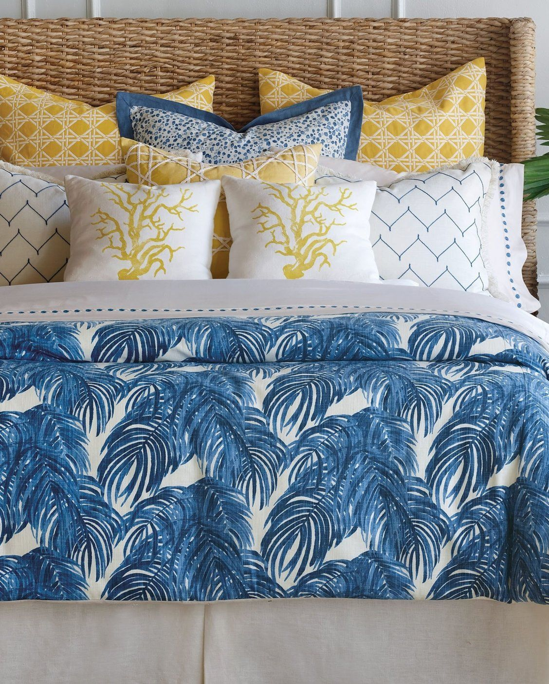 Invigorate Your Bed Top With A Vibrant Yet Relaxing Ensemble The
