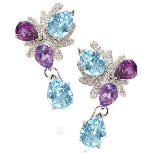 Coral earrings fredericmane paris designer jewellery