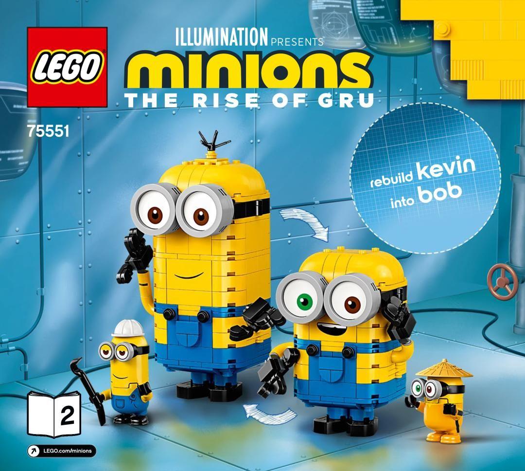 Building Instructions Istruzioni Per La Costruzione Lego 75551 Personaggi Minions E La Loro Tana Libro 2 Lego Lego Minion Minions