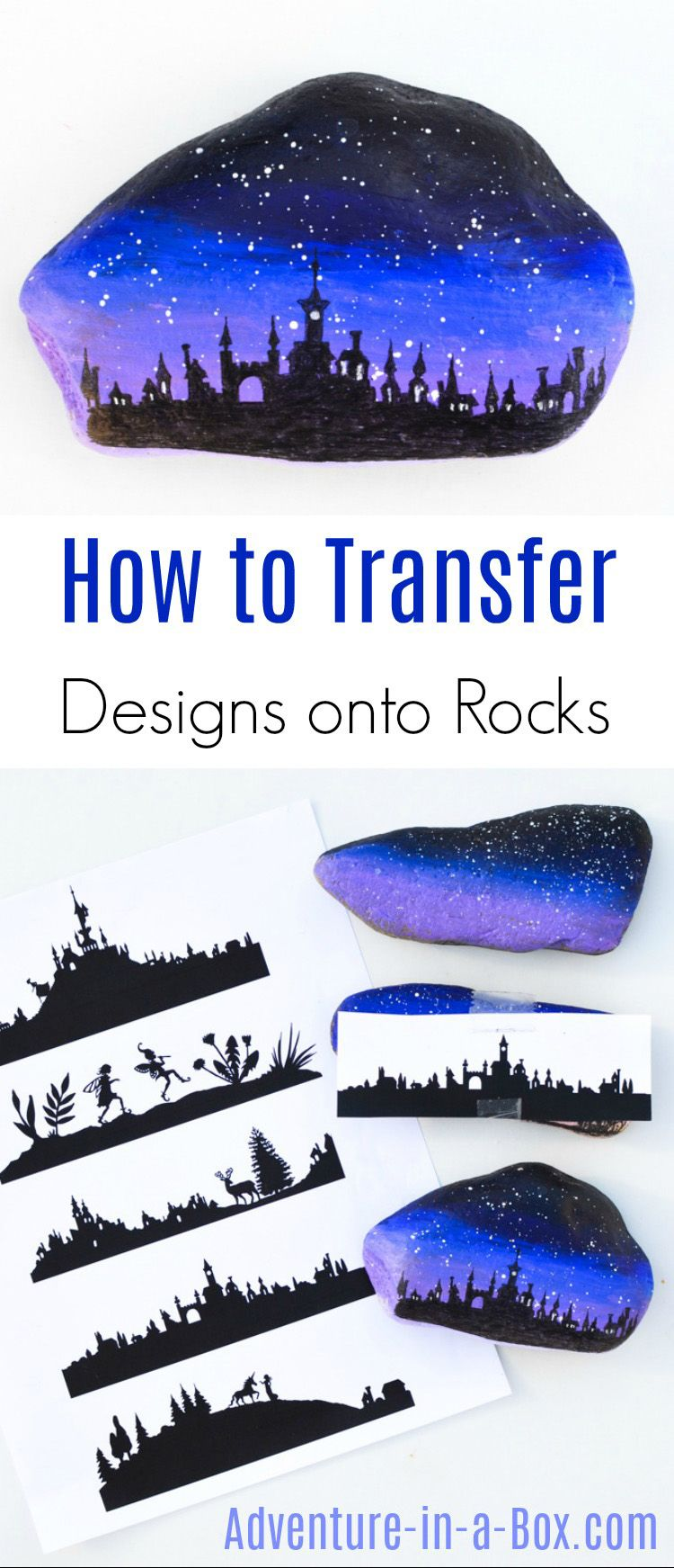 Photo of How to Transfer Silhouette Designs onto Rocks