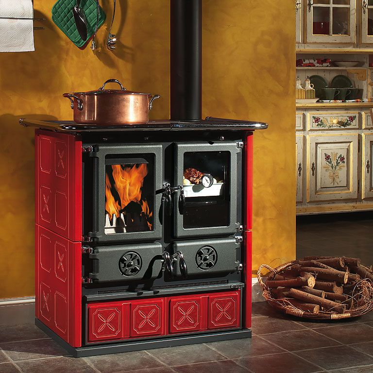 La Nordica Rosetta Maiolica Wood Cooker | ovens/wood burning stove ...