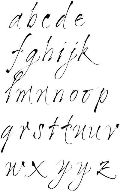 Célèbre calligraphie, tire-ligne, gestuelle, alphabets, lettres, stages et  LB97