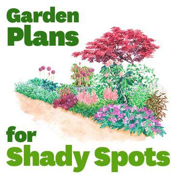 garden plans for shady spots - Shaded Flower Garden Ideas