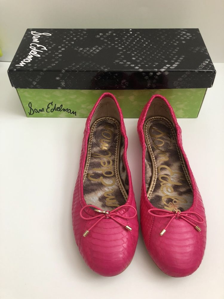 c7a7b9ed2b94e Sam Edelman Felicia Ballet Flats - Fuschia Pink - Size 6 1 2  fashion   clothing  shoes  accessories  womensshoes  flats (ebay link)