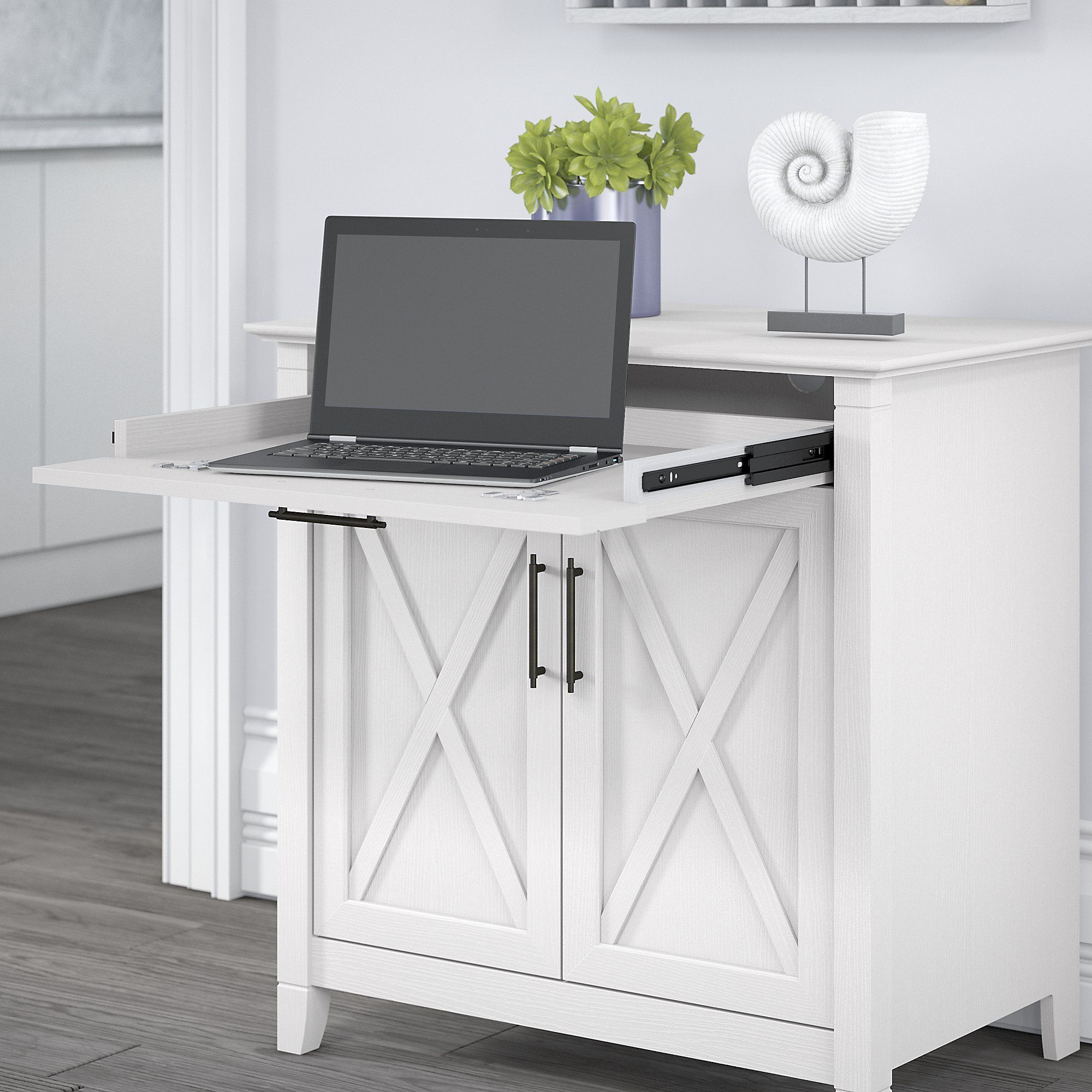 Secretary Desk With Storage Drawers White Drop Front Writing For Home Office Crosley Cottage White Secretary Desk Secretary Desks Home Office Furniture