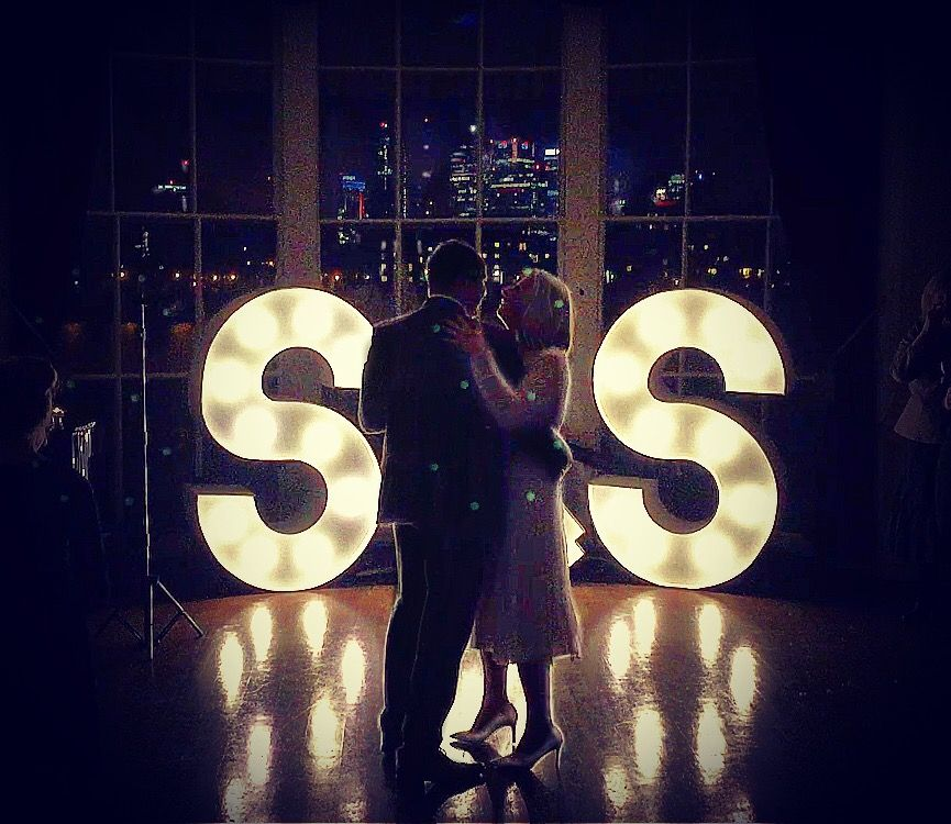 Giant light up letters for weddings and parties from Light