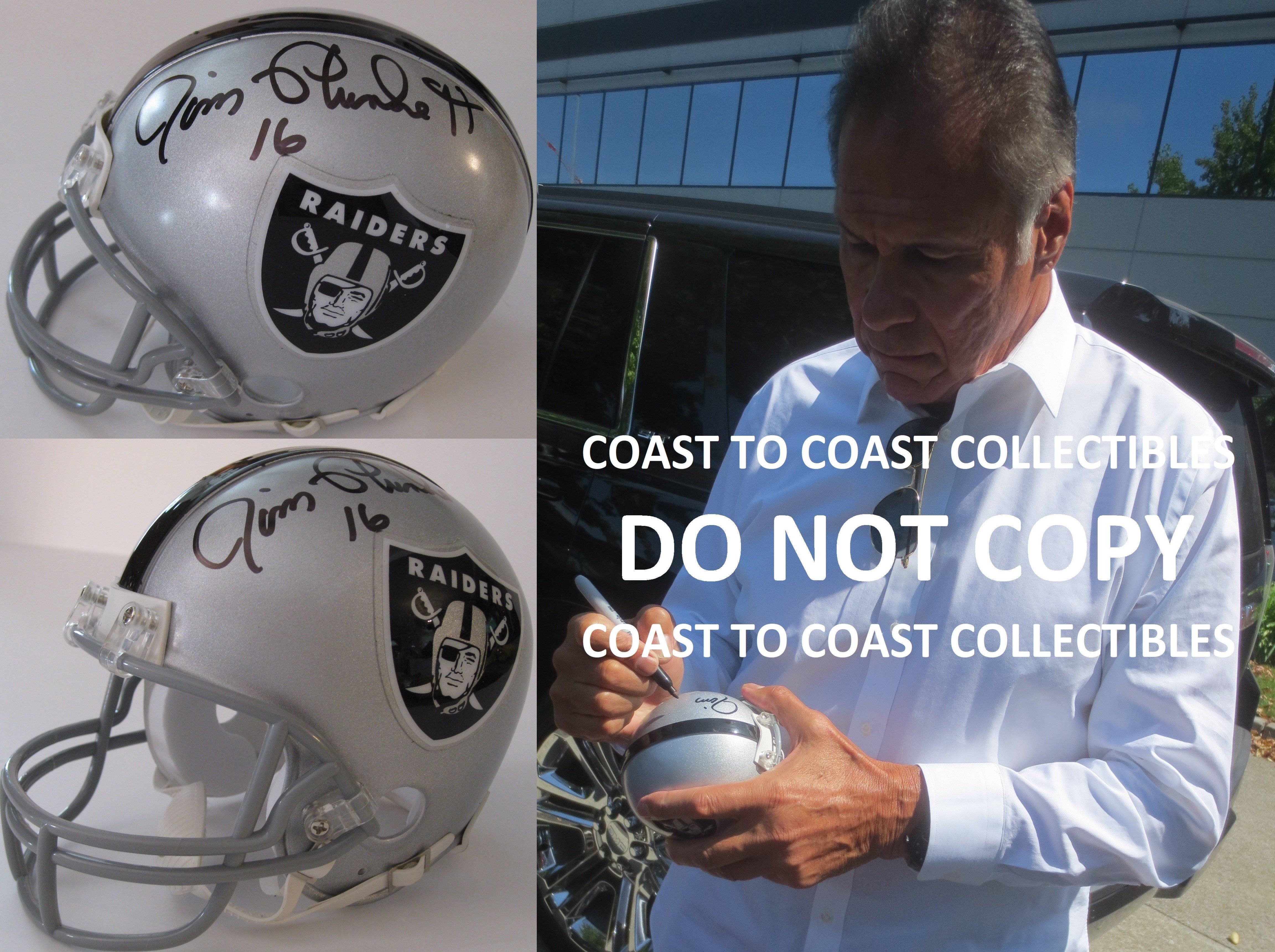 low priced 9d002 10497 Jim Plunkett Oakland Raiders signed autographed, Mini ...