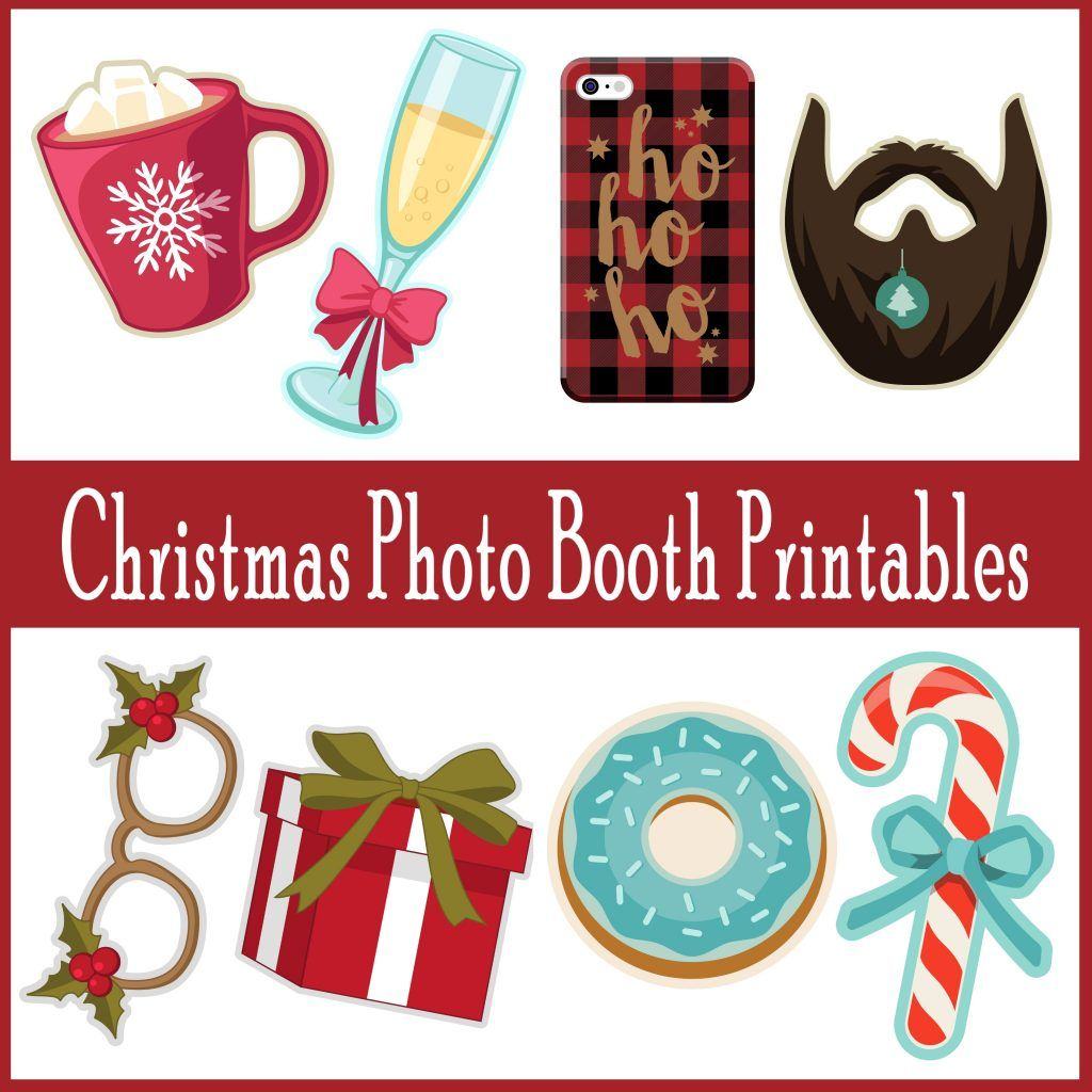 over 60 adorable printable photo booth props for christmas christmas photobooth holidays printable christmastime
