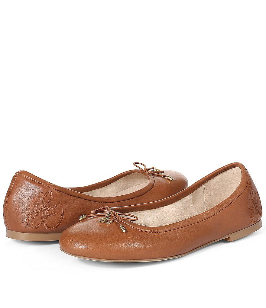 8e825d34eb6171 Saddle Sam Edelman Felicia Bow Detail Leather Ballet Flats