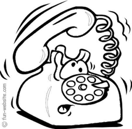 Printable Pictures Of Telephones Telephone Coloring Page