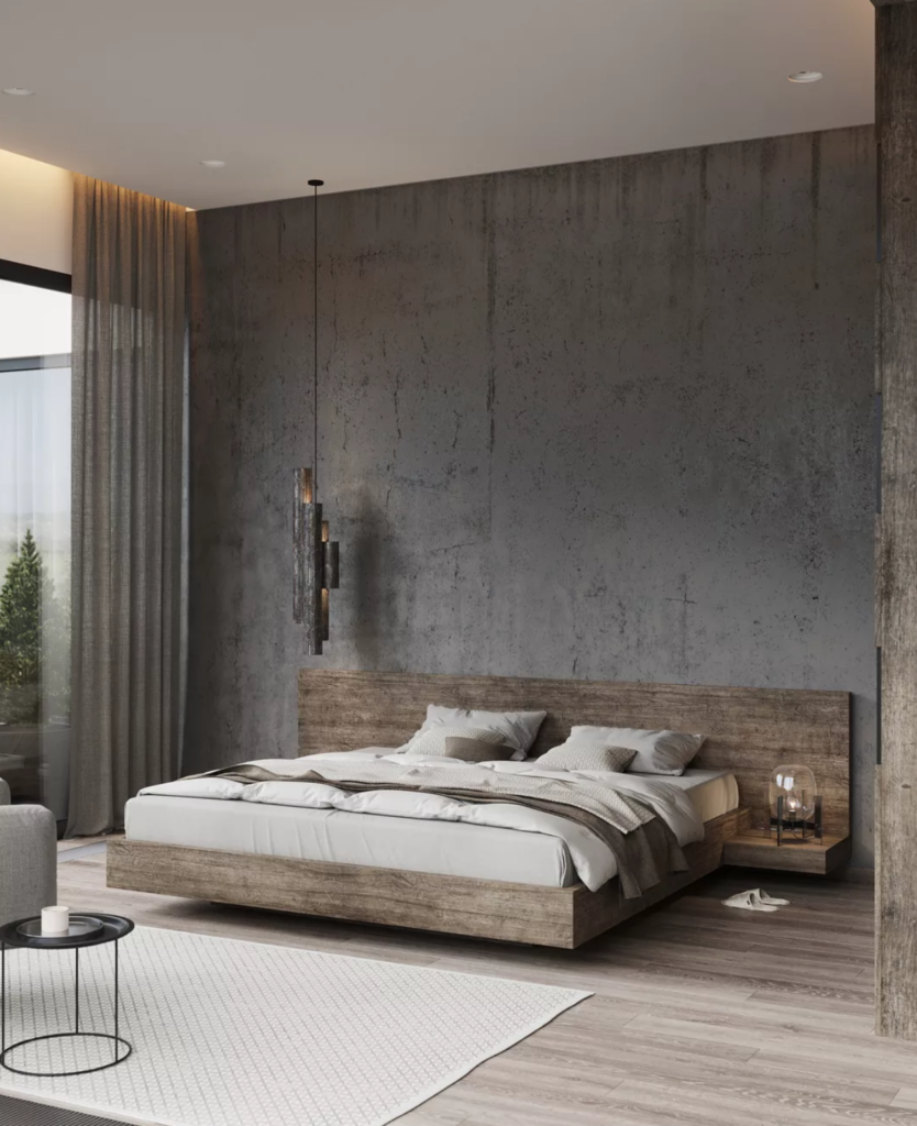 The 15 Most Beautiful Master Bedrooms On Pinterest Sanctuary Home Decor Industrial Bedroom Design Grey Bed Frame Modern Bedroom Design