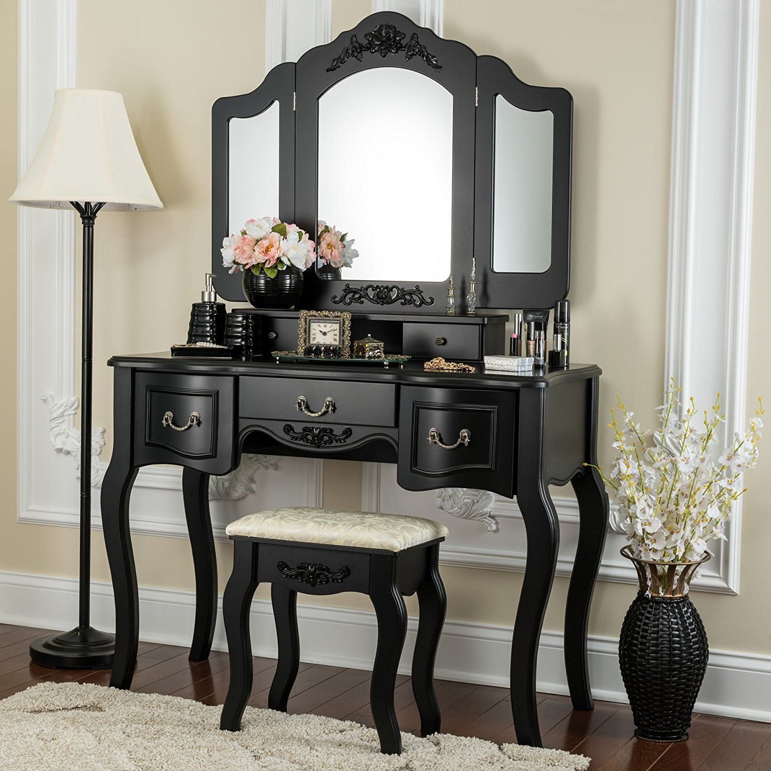 Fineboard Beauty Station Makeup Table and