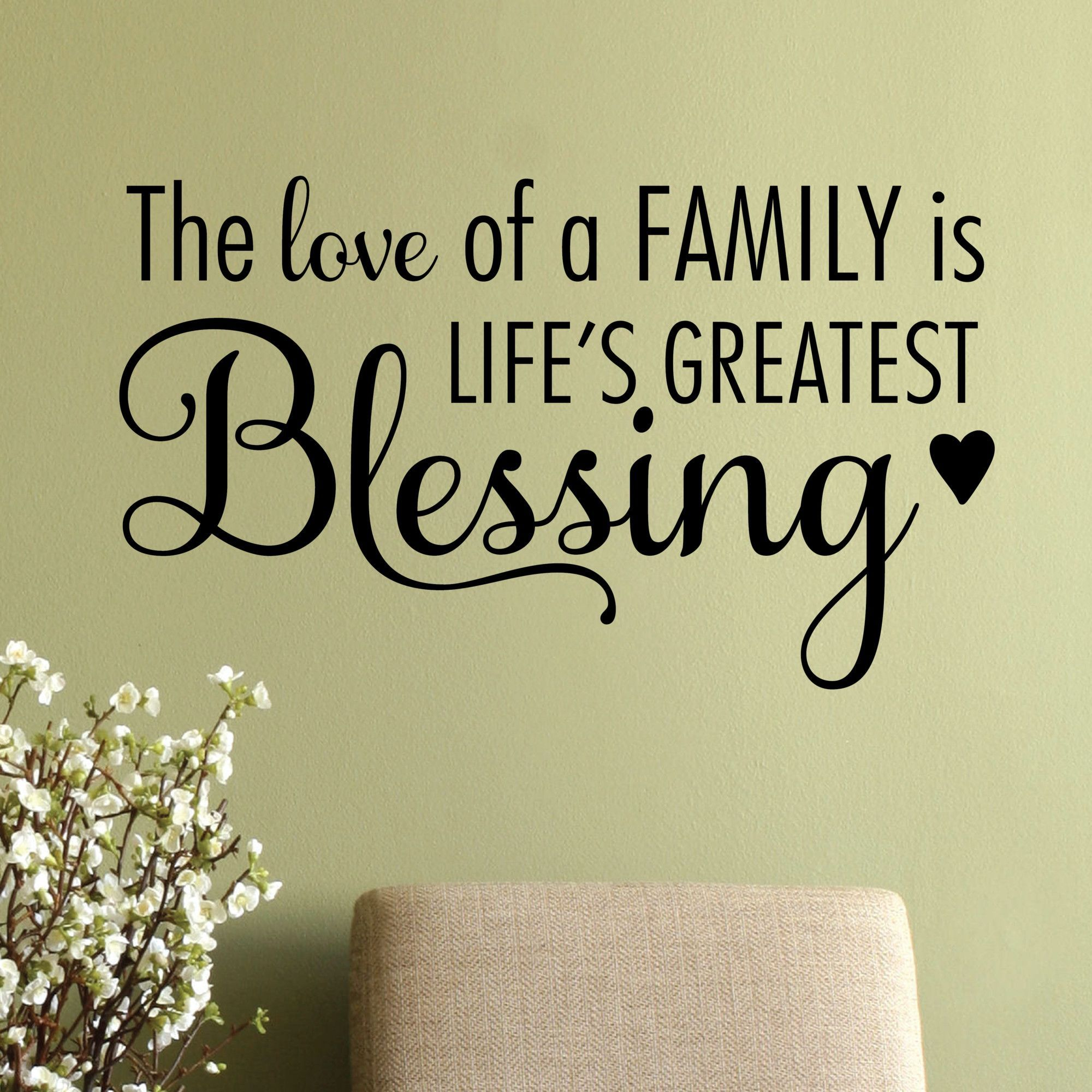 The Love of A Family Wall Quotes™ Decal | Family wall, Wall decals ...