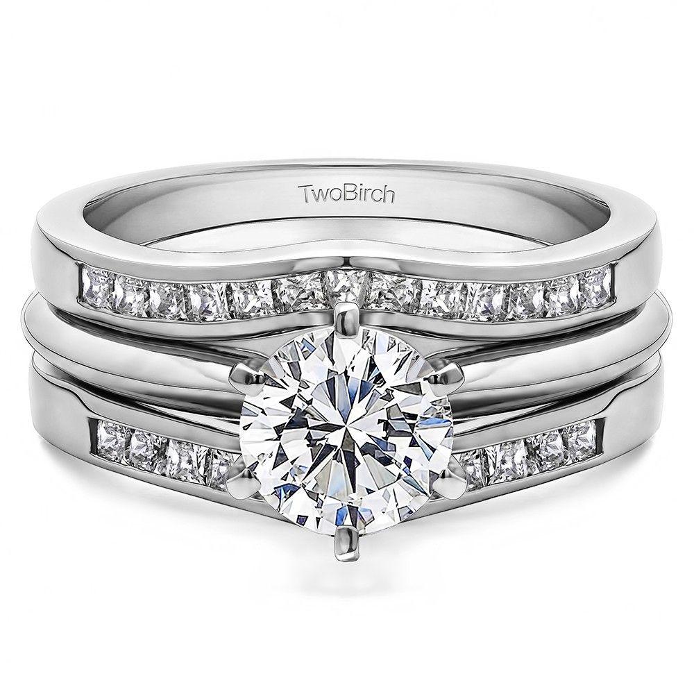 Classic Style Contour Wedding Ring Guard (0.54 Carat