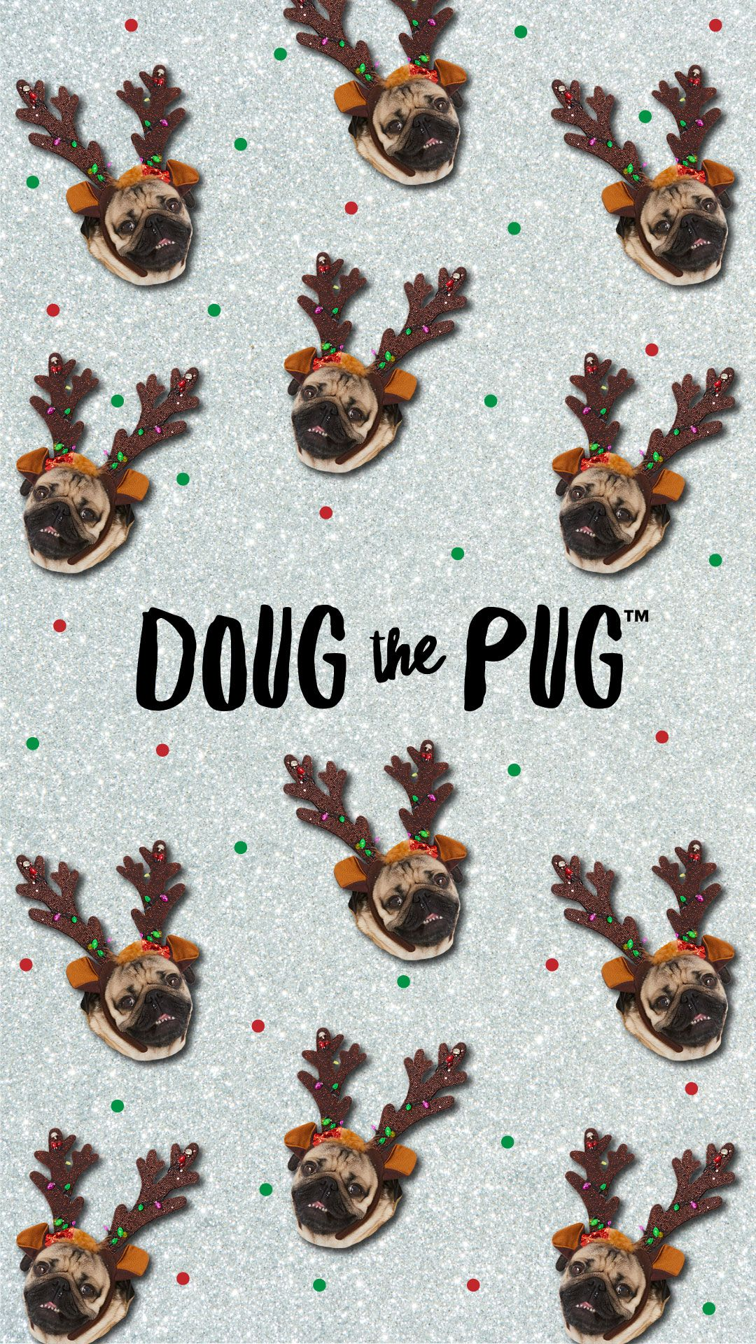 FREE Doug the Pug Christmas Wallpapers Pug christmas