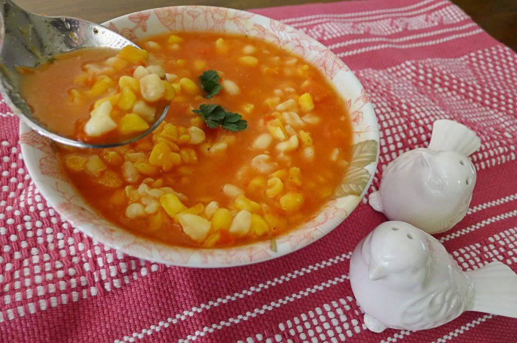 Chacales or chuales soup for lent sopa de chacales o