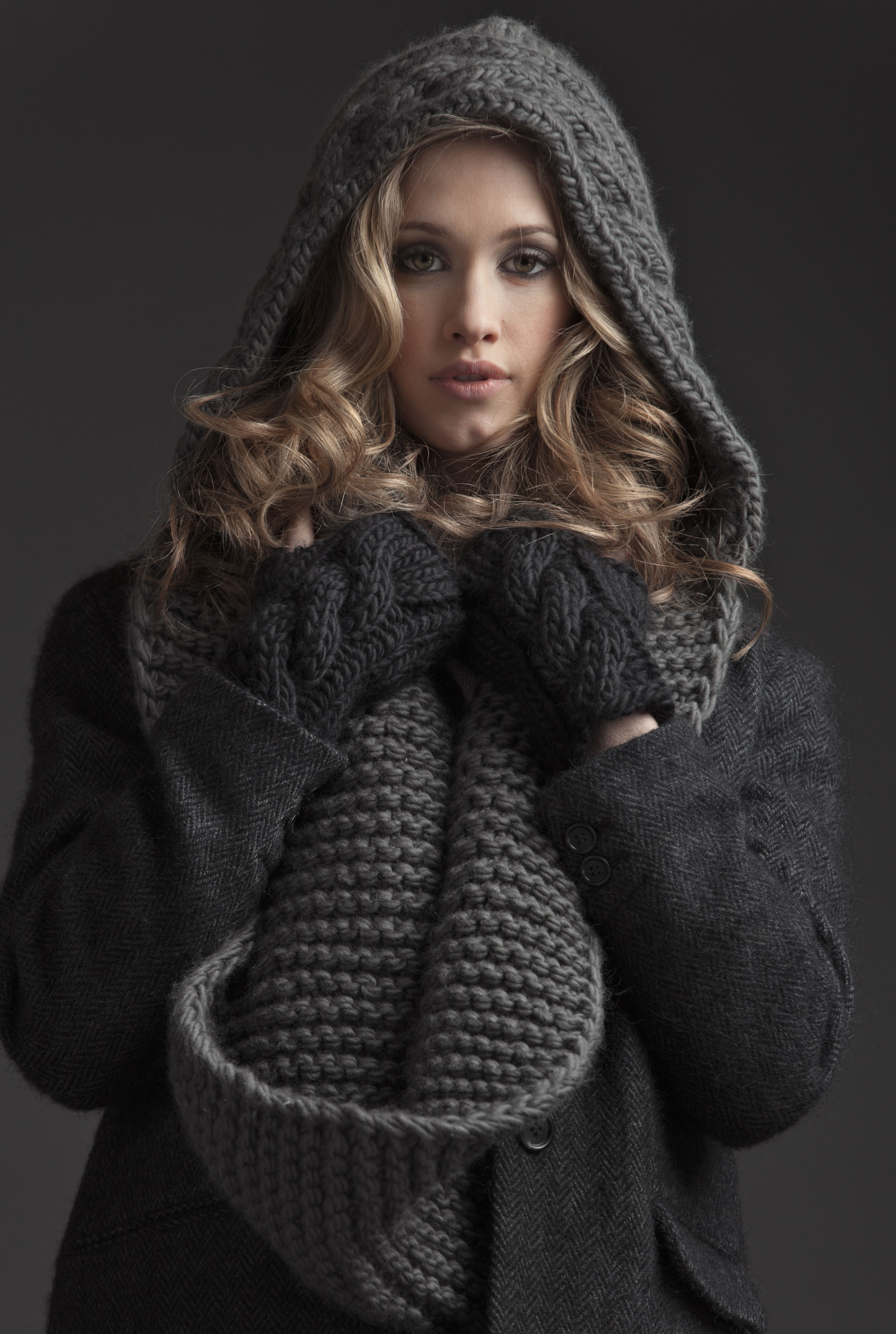 THE THIRD PIECE - F/W 14 // The Boston - Knit Hooded Infinity Scarf ...