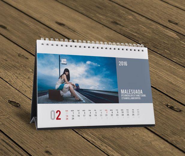 Table Calendar Design Samples : Desk table yearly calendar design temlpate