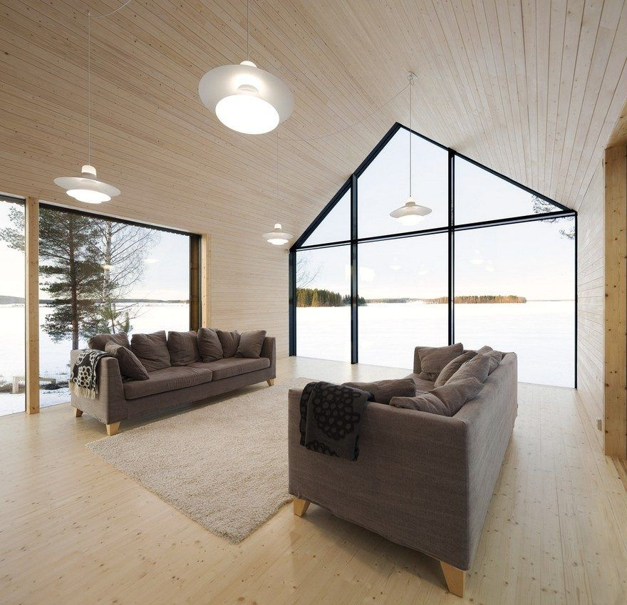 Finnish Design House: This Modern Finnish House Consists Of Three Barns Put
