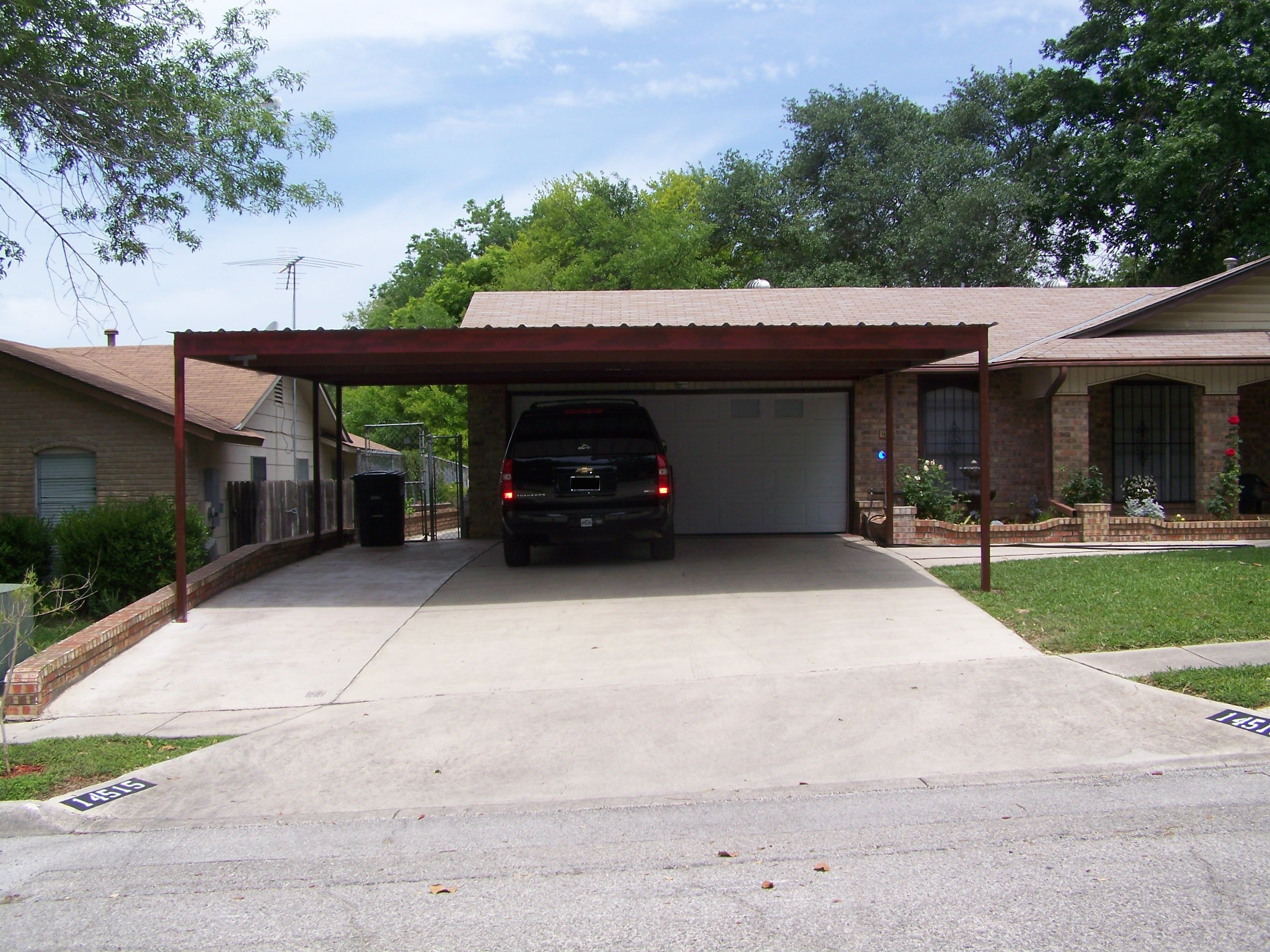 Image result for 2 car carport over driveway Exterior