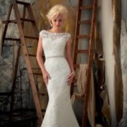 Black Friday Sales Mori Lee Wedding Dresses Style 1901 Cyber Monday 2013 - Mori Lee Wedding Dresses Spring 2013 Be truly vivacious in this vintage inspired lace fit and flare gown featuring a bateau neckline with illusion...