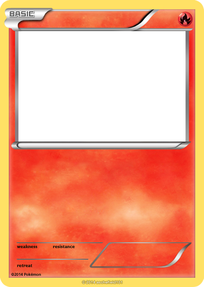 Xy Blanks Basic Fire By Aschefield101 D7at3zn Png 420 590 Pixels Pokemon Card Template Pokemon Party Invitations Pokemon Birthday Card